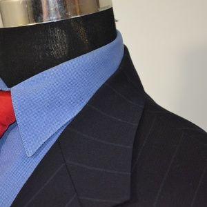 Stafford Suits & Blazers - Stafford 42R Sport Coat Blazer Suit Jacket Navy Pi